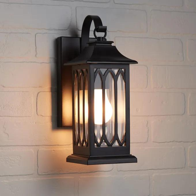 """13"""" Stonehouse Outdoor Entrance Wall Sconce - Single Light - Smooth Bronze"""