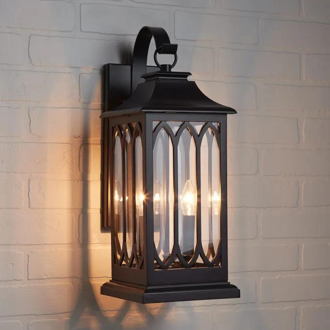 "20"" Stonehouse 2-Light Candelabra Outdoor Entrance Wall Sconce - Smooth Bronze"