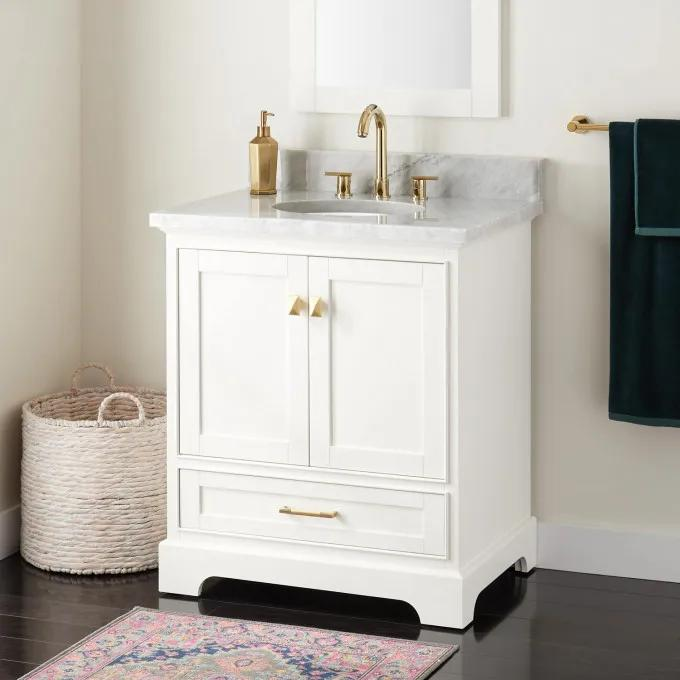 "30"" Quen Vanity for Undermount Sink - White"
