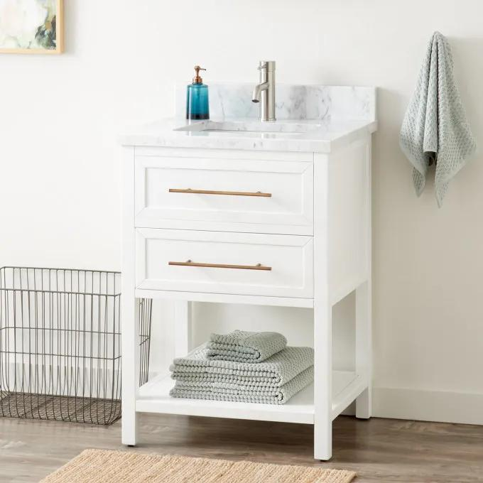 "24"" Robertson Vanity for Rectangular Undermount Sink - White"