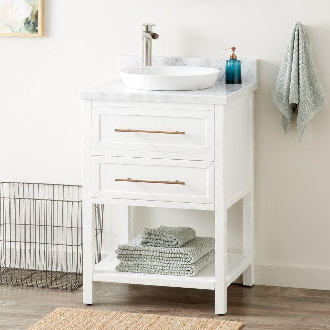"""24"""" Robertson Vanity for Semi-Recessed Sink - White"""