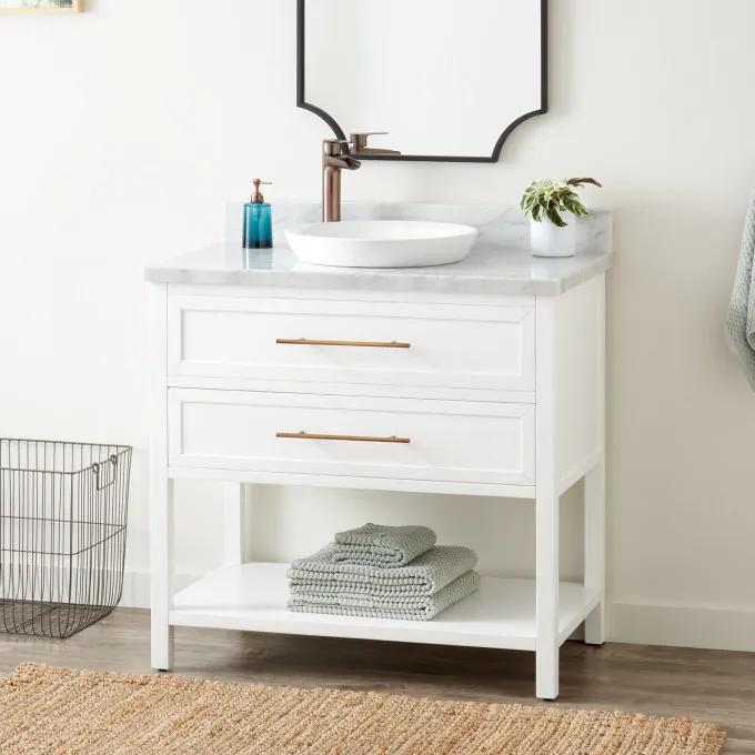 "36"" Robertson Vanity for Semi-Recessed Sink - White"