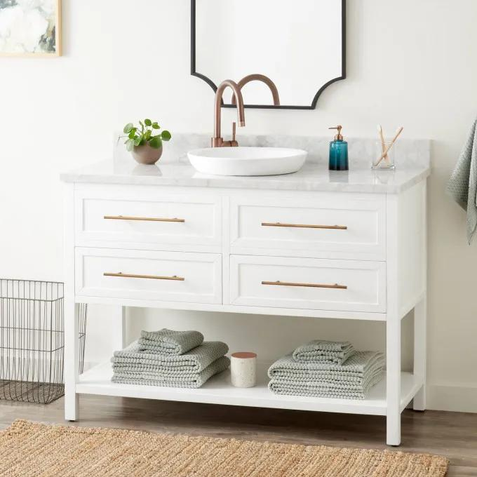 """48"""" Robertson Vanity for Semi-Recessed Sink - White"""