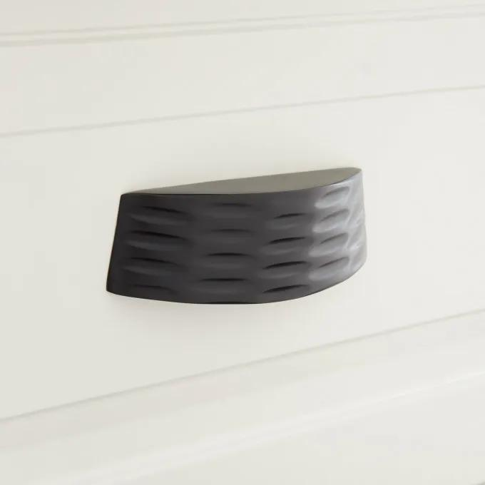 Ruxton Solid Brass Cup Pull - Matte Black