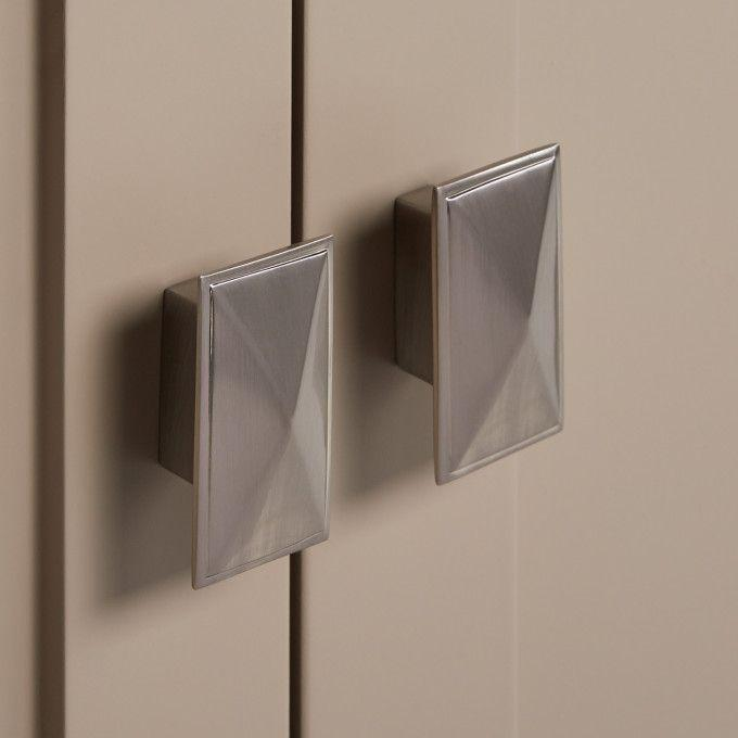 Brushed Nickel Knob Detail