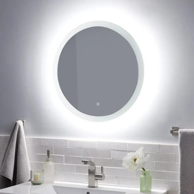 Morse Round Lighted Mirror with Tunable LED