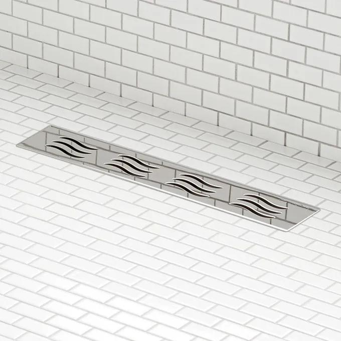 Licata Linear Shower Drain - Polished Stainless Steel