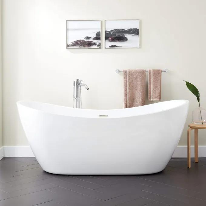 "72"" Sheba Acrylic Double-Slipper Tub"