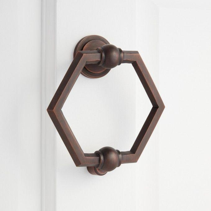 Arcaro Brass Door Knocker - Oil Rubbed Bronze