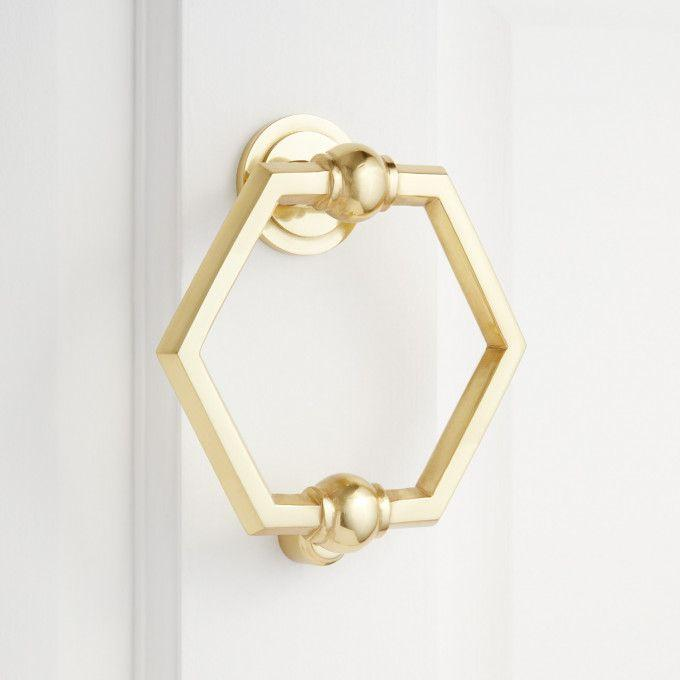 Arcaro Brass Door Knocker - Polished Brass