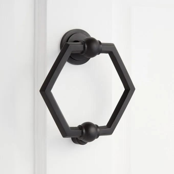 Arcaro Brass Door Knocker - Satin Black