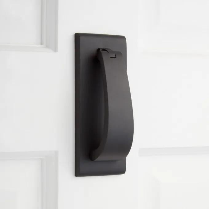 Spahn Brass Door Knocker - Satin Black