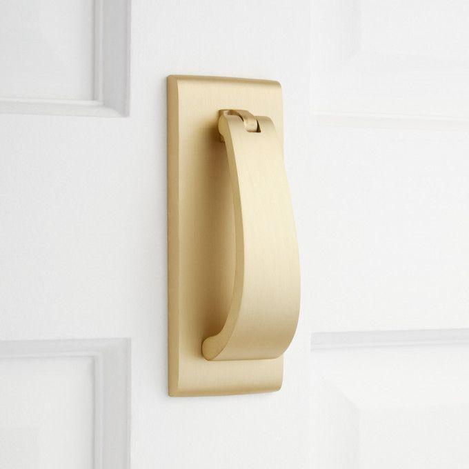 Spahn Brass Door Knocker - Satin Brass