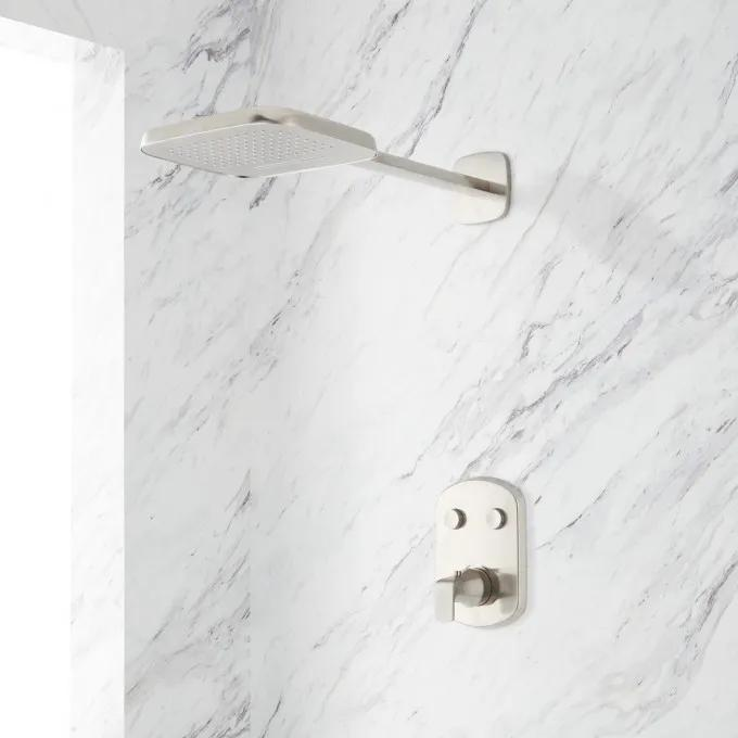 Luna SimpleSelect Thermostatic Shower System with Dual-Function Shower Head