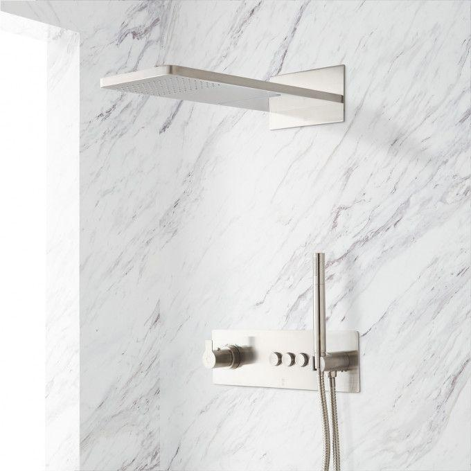 Hollyn SimpleSelect Thermostatic Shower System with Dual-Function Shower Head and Hand Shower