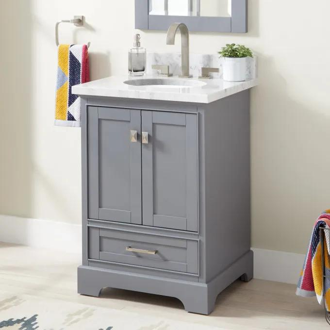 "24"" Quen Vanity for Undermount Sink - Gray"