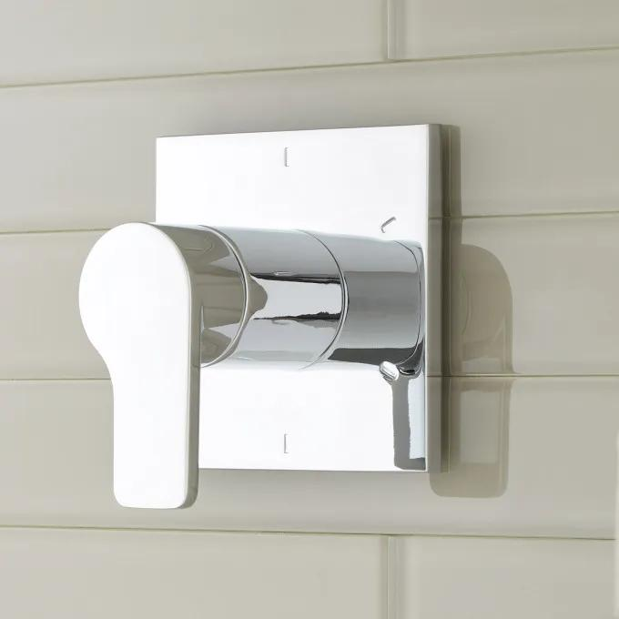 Hibiscus In-Wall Shower Diverter - Chrome