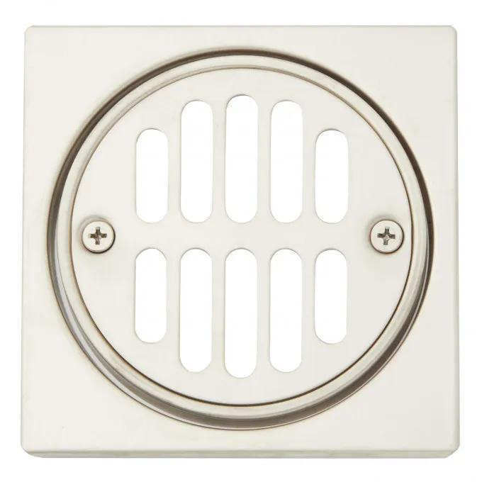 Square Shower Drain Cover with Round Strainer