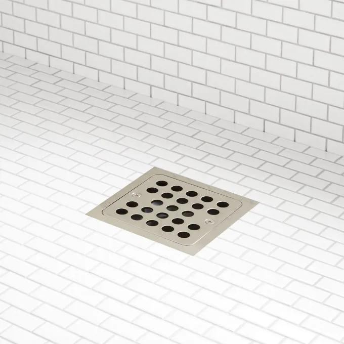 Adjustable Height Square Shower Drain