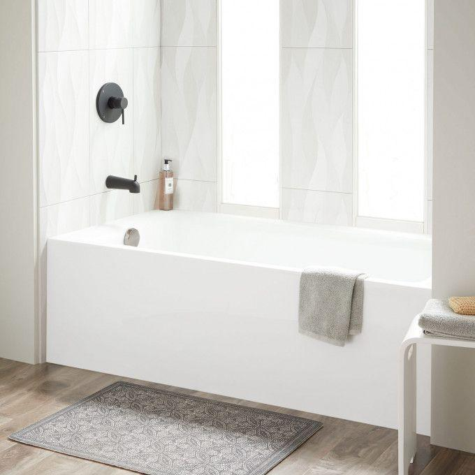 "60"" x 30"" Sitka Acrylic Alcove Soaking Tub - White"