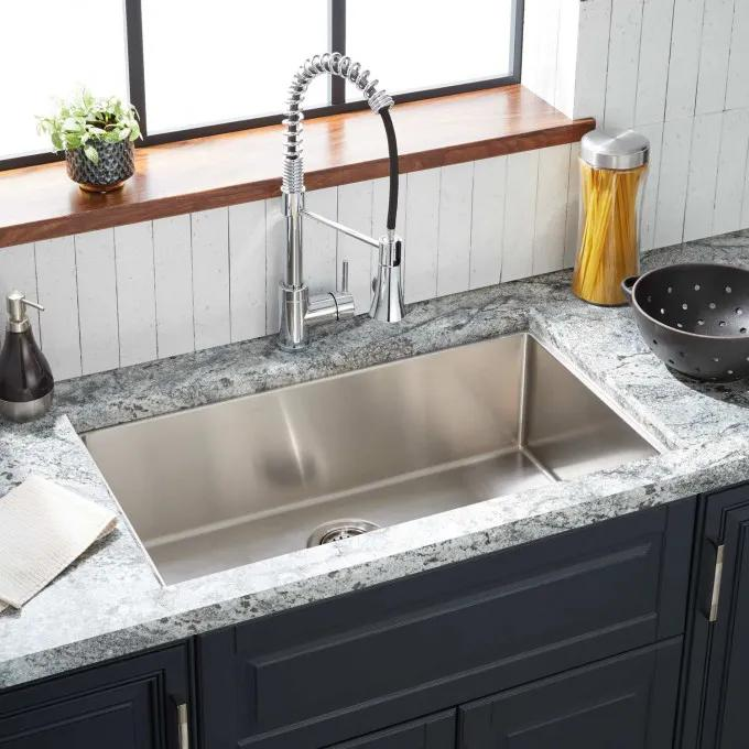 "29"" Ortega Stainless Steel Undermount Kitchen Sink"