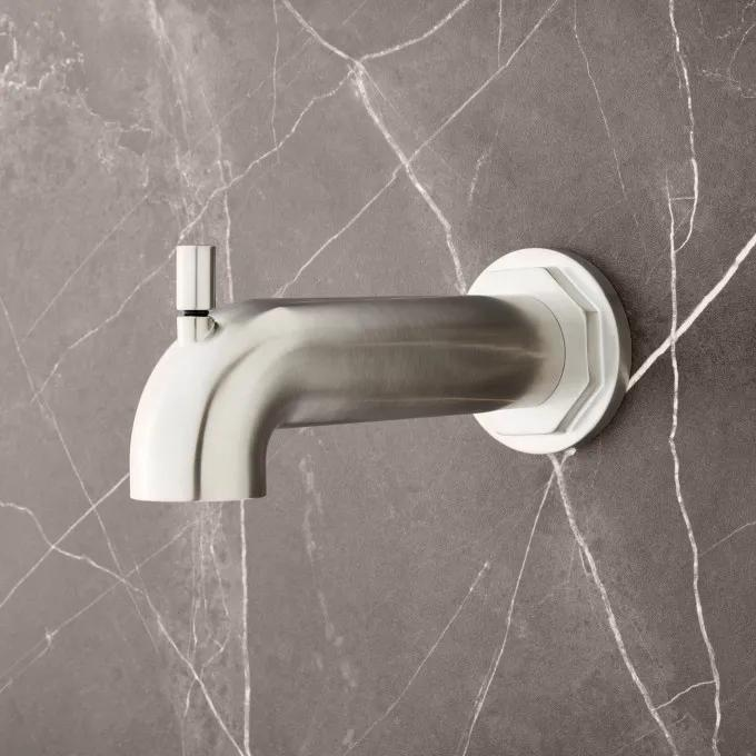 Greyfield Tub Spout with Diverter - Brushed Nickel