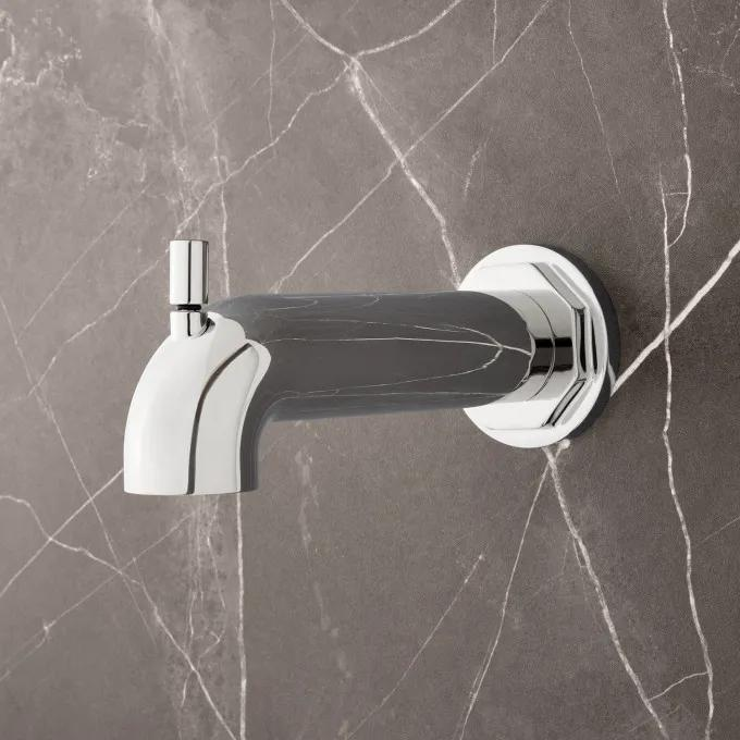 Greyfield Tub Spout with Diverter - Chrome