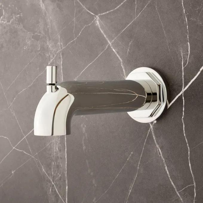 Greyfield Tub Spout with Diverter - Polished Nickel