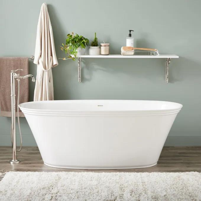 "67"" Doric Solid Surface Freestanding Tub"