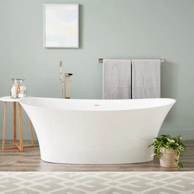 "67"" Giosa Solid Surface Freestanding Tub"
