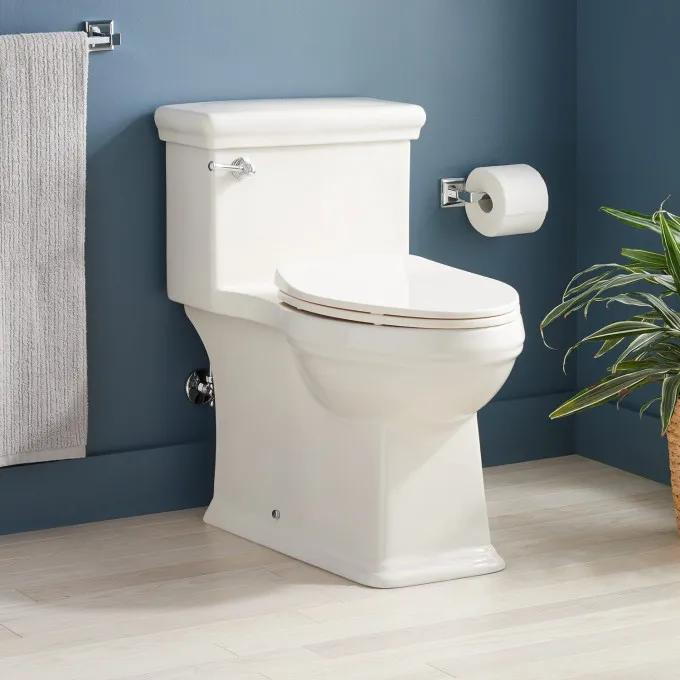 Key West One-Piece Elongated Skirted Toilet - ADA Compliant