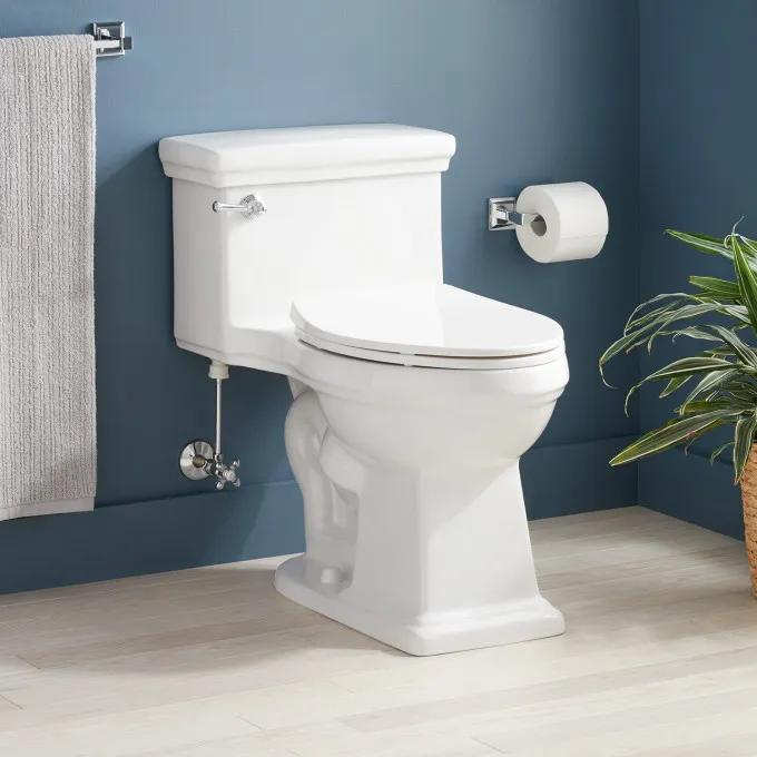 Key West One-Piece Elongated Toilet - ADA Compliant - White