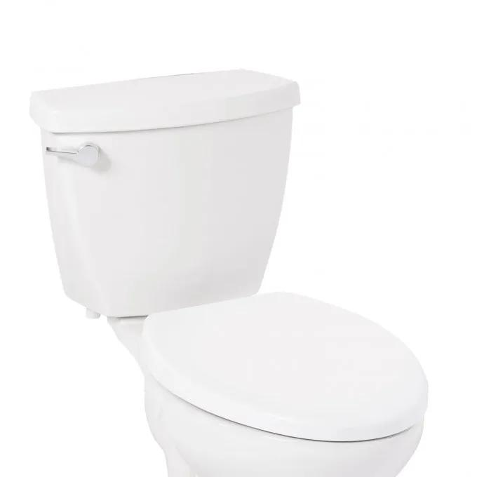 Contemporary Easy Clean Toilet Seat - Elongated Bowl - White