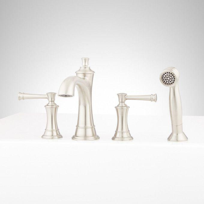 Beasley 4-Hole Roman Tub Faucet and Hand Shower
