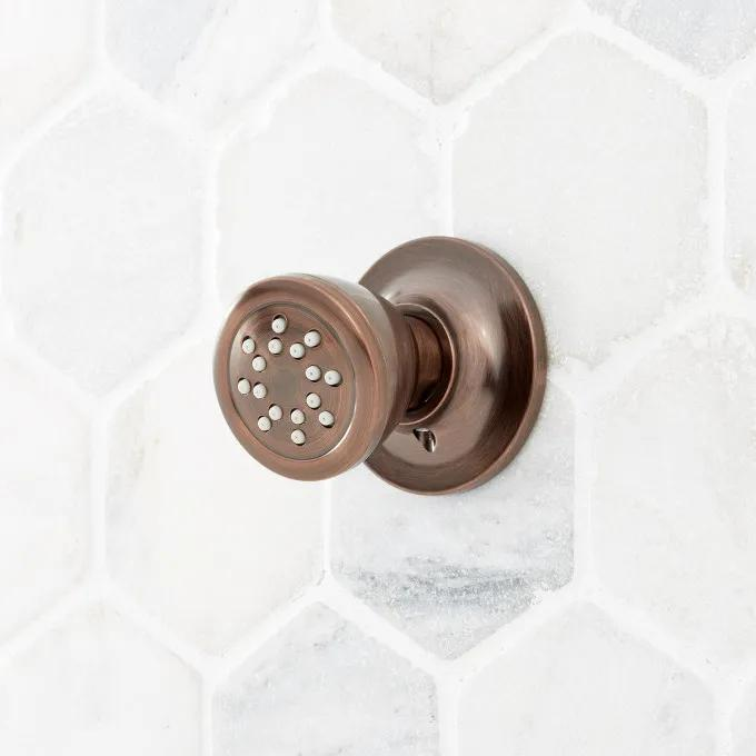 Traditional Round Swivel Body Spray - Oil Rubbed Bronze
