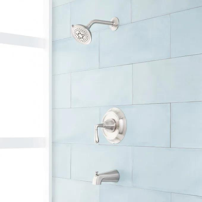 Key West Pressure Balance Tub and Shower Set - Brushed Nickel