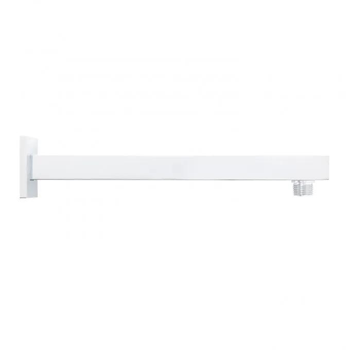 Modern Square Wall-Mount Shower Arm with Flange - Chrome