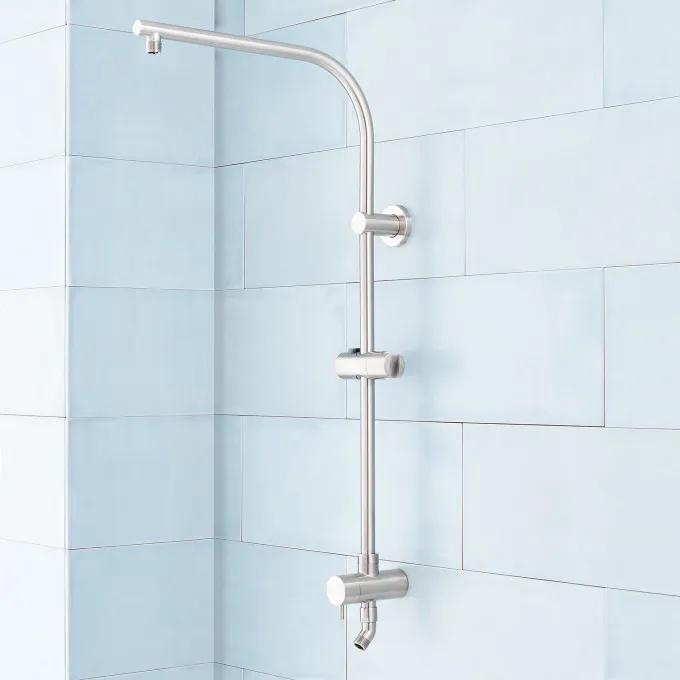 Retrofit Exposed Pipe Shower System - Brushed Nickel