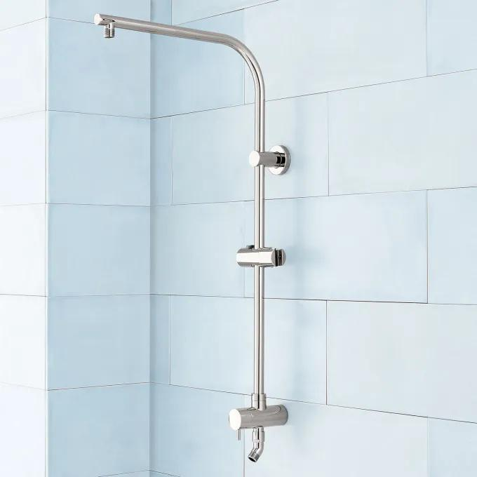 Retrofit Exposed Pipe Shower System - Polished Nickel