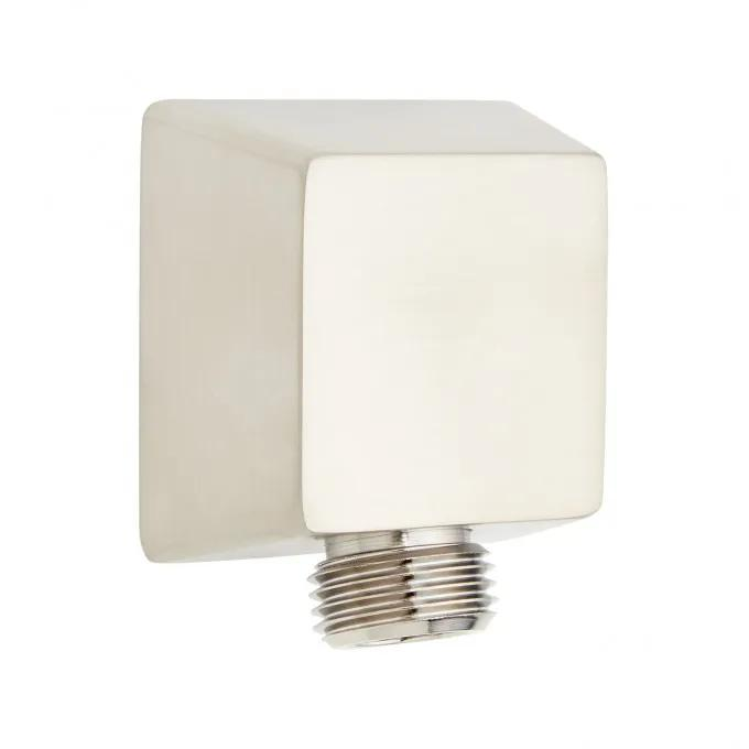 Contemporary Square Water Supply Elbow for Hand Shower - Brushed Nickel