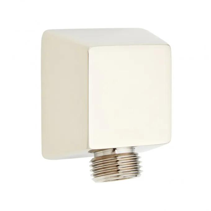 Contemporary Square Water Supply Elbow for Hand Shower - Polished Nickel