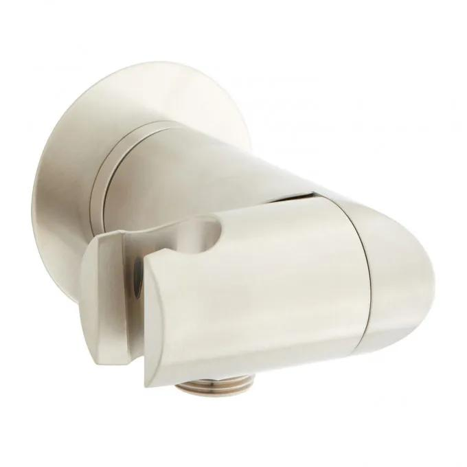 Swivel Water Supply Elbow and Bracket for Hand Shower - Brushed Nickel