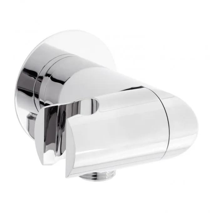 Swivel Water Supply Elbow and Bracket for Hand Shower - Chrome
