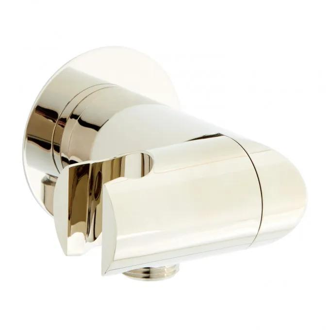 Swivel Water Supply Elbow and Bracket for Hand Shower - Polished Nickel