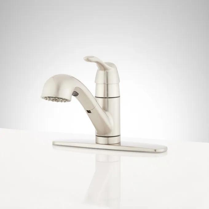 Bradenton Single-Hole Pull-Out Kitchen Faucet with Deck Plate
