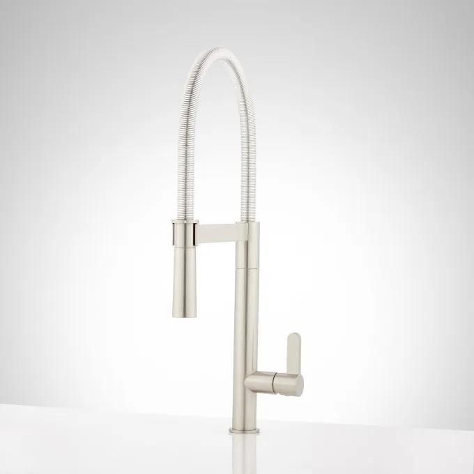 Ocala Single-Hole Kitchen Faucet with Pull-Down Spring Spout