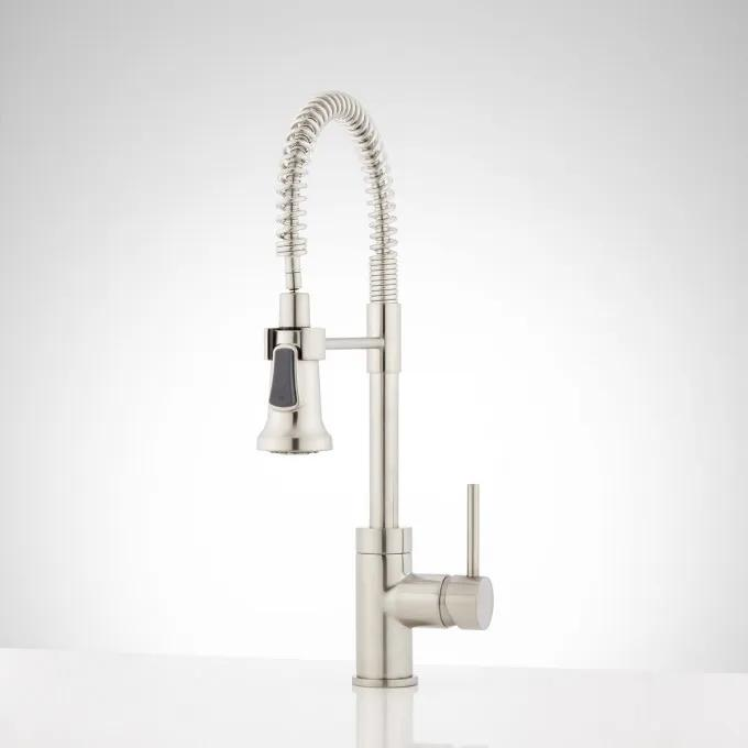 """19"""" Presidio Kitchen Faucet with Pull-Down Spring Spout"""