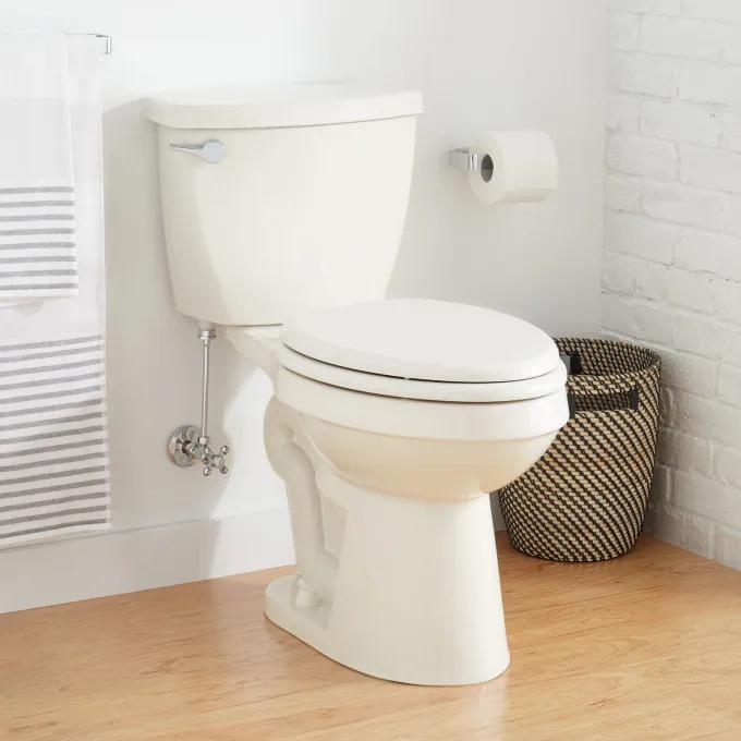 """Bradenton Two-Piece Elongated Toilet with 12"""" Rough-In - 16"""" Bowl Height - Biscuit"""