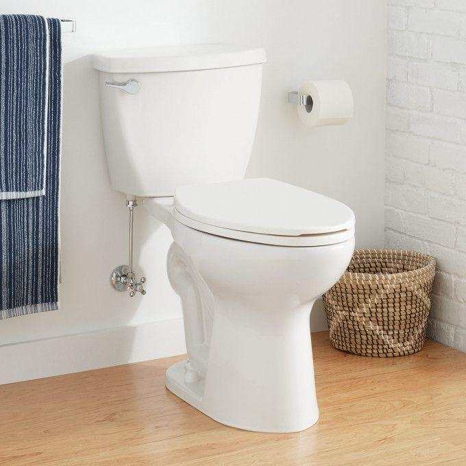 """Bradenton Two-Piece Elongated Toilet with 10"""" Rough-In - 17"""" Bowl Height"""
