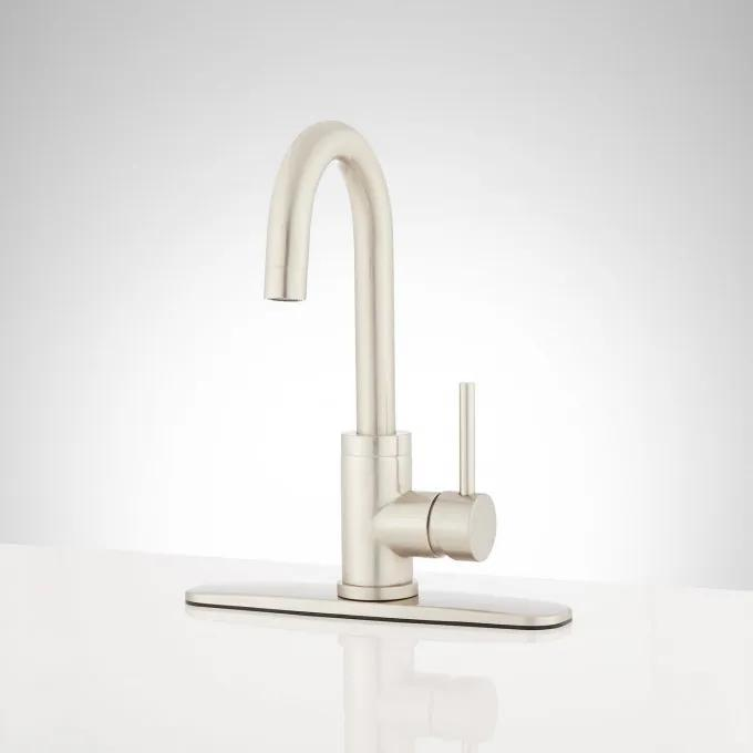 Ravenel Single-Hole Bar Faucet with Deck Plate